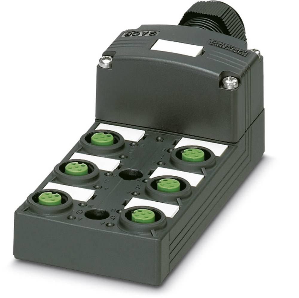 Sensor/aktorbox passiv M12-fordeler med kunststofgevind SACB-6/12-L-SC SCO P 1453012 Phoenix Contact 1 stk