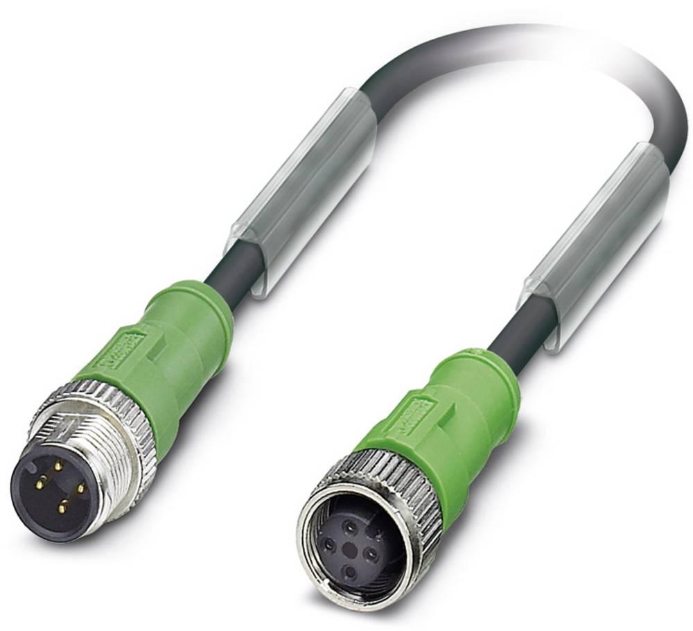 Sensor-, aktuator-stik, Phoenix Contact SAC-4P-M12MS/ 2,0-PUR/M12FS 1 stk