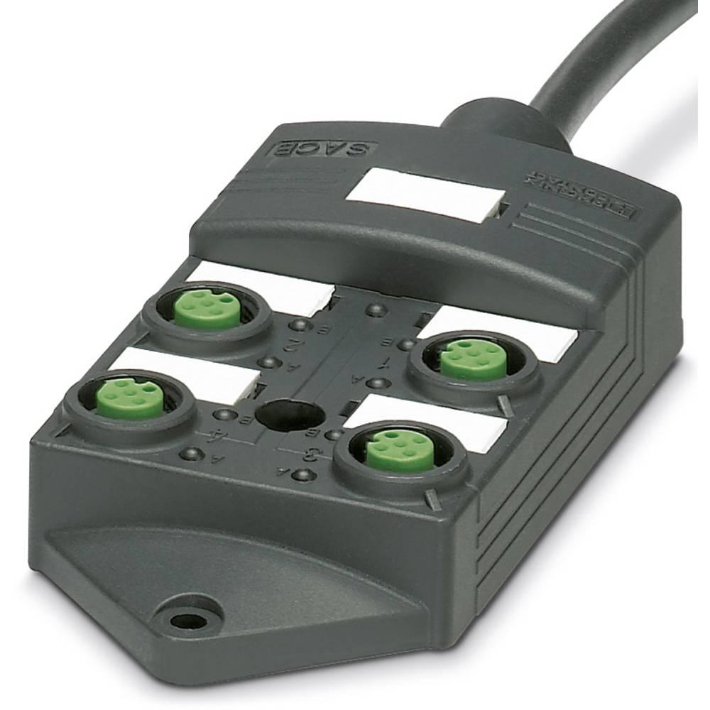 Sensor/aktorbox passiv M12-fordeler med kunststofgevind SACB-4/ 4- 5,0PUR SCO P 1452398 Phoenix Contact 1 stk