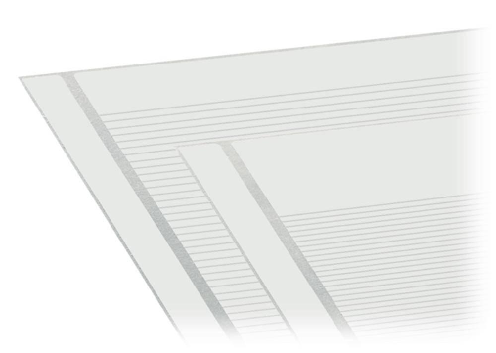 Selvklæbende etiket strimler WAGO 1 stk