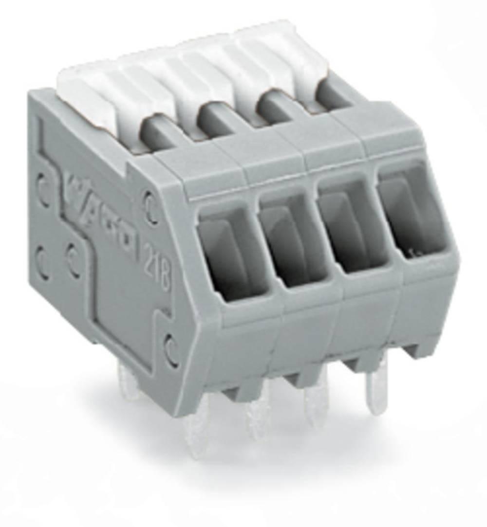 Fjederkraftsklemmeblok WAGO 0.50 mm² Poltal 20 Grå 80 stk