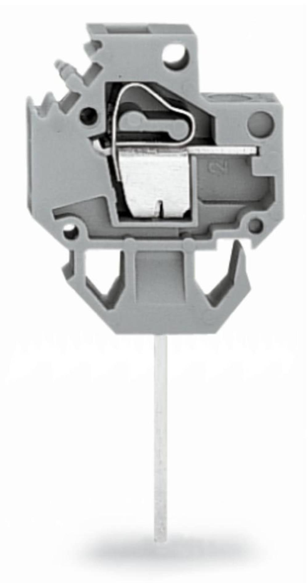 Fjederkraftsklemmeblok WAGO 4.00 mm² Poltal 1 Grå 150 stk