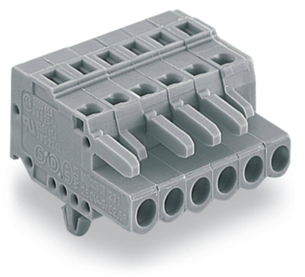 Tilslutningskabinet-kabel 231 Samlet antal poler 2 WAGO 231-102/008-000 Rastermål: 5 mm 100 stk