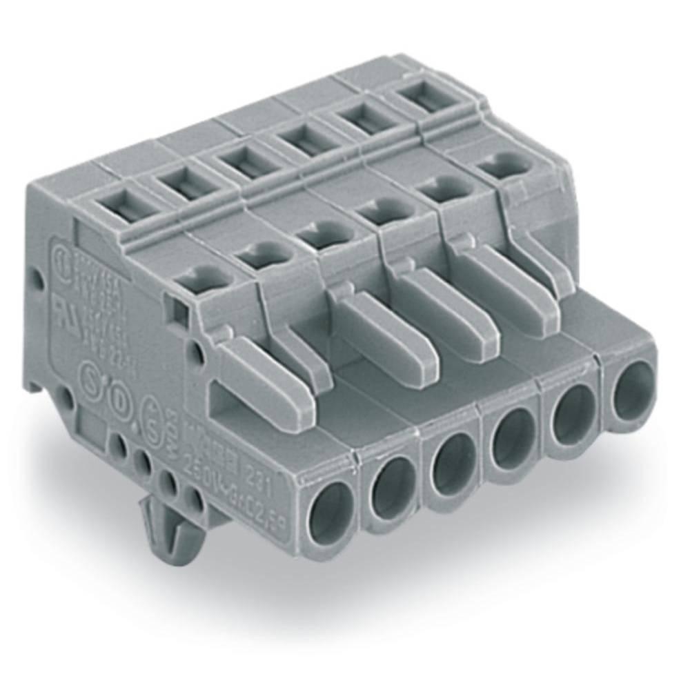Tilslutningskabinet-kabel 231 Samlet antal poler 13 WAGO 231-113/008-000 Rastermål: 5 mm 25 stk