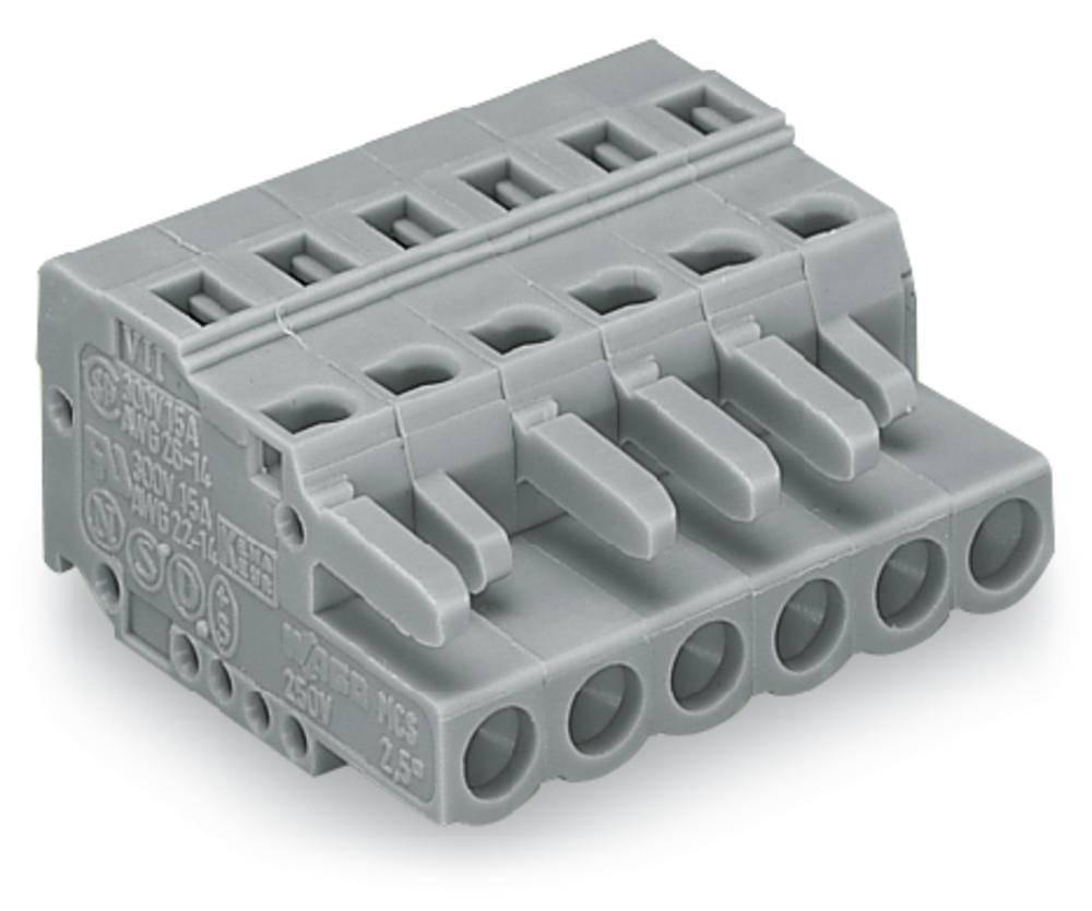 Tilslutningskabinet-kabel 231 Samlet antal poler 9 WAGO 231-109/102-000 Rastermål: 5 mm 50 stk