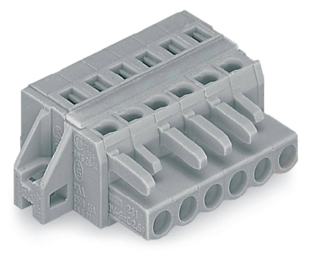 Tilslutningskabinet-kabel 231 Samlet antal poler 15 WAGO 231-115/027-000 Rastermål: 5 mm 25 stk