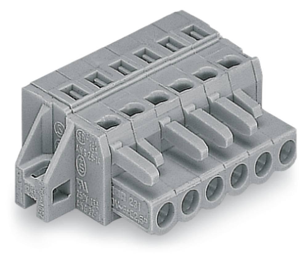 Tilslutningskabinet-kabel 231 Samlet antal poler 22 WAGO 231-122/031-000 Rastermål: 5 mm 10 stk