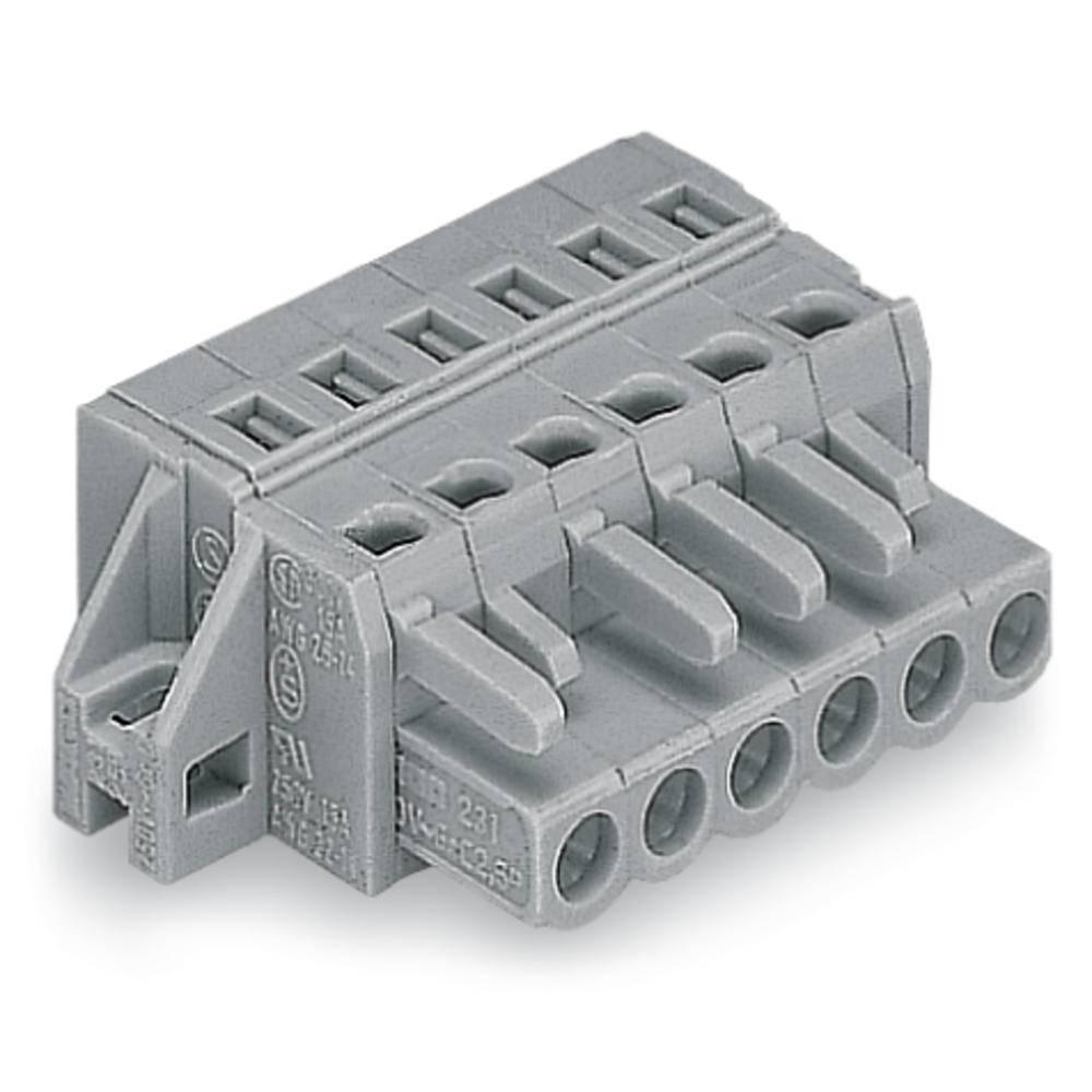 Tilslutningskabinet-kabel 231 Samlet antal poler 16 WAGO 231-116/031-000 Rastermål: 5 mm 10 stk