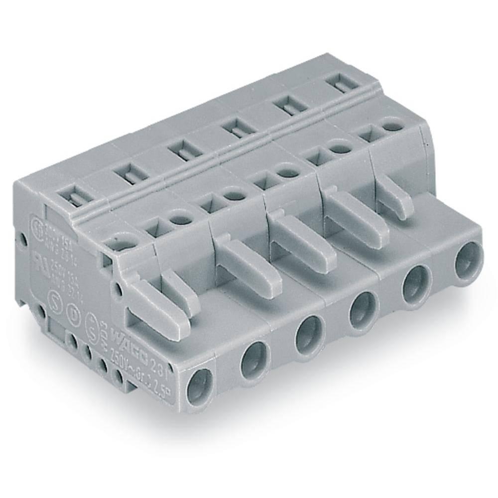 Tilslutningskabinet-kabel 231 Samlet antal poler 10 WAGO 231-210/026-000 Rastermål: 7.50 mm 25 stk