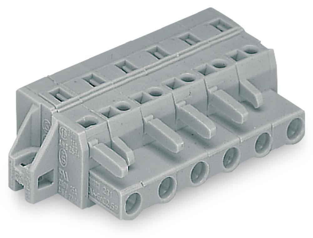 Tilslutningskabinet-kabel 231 Samlet antal poler 6 WAGO 231-206/025-000 50 stk