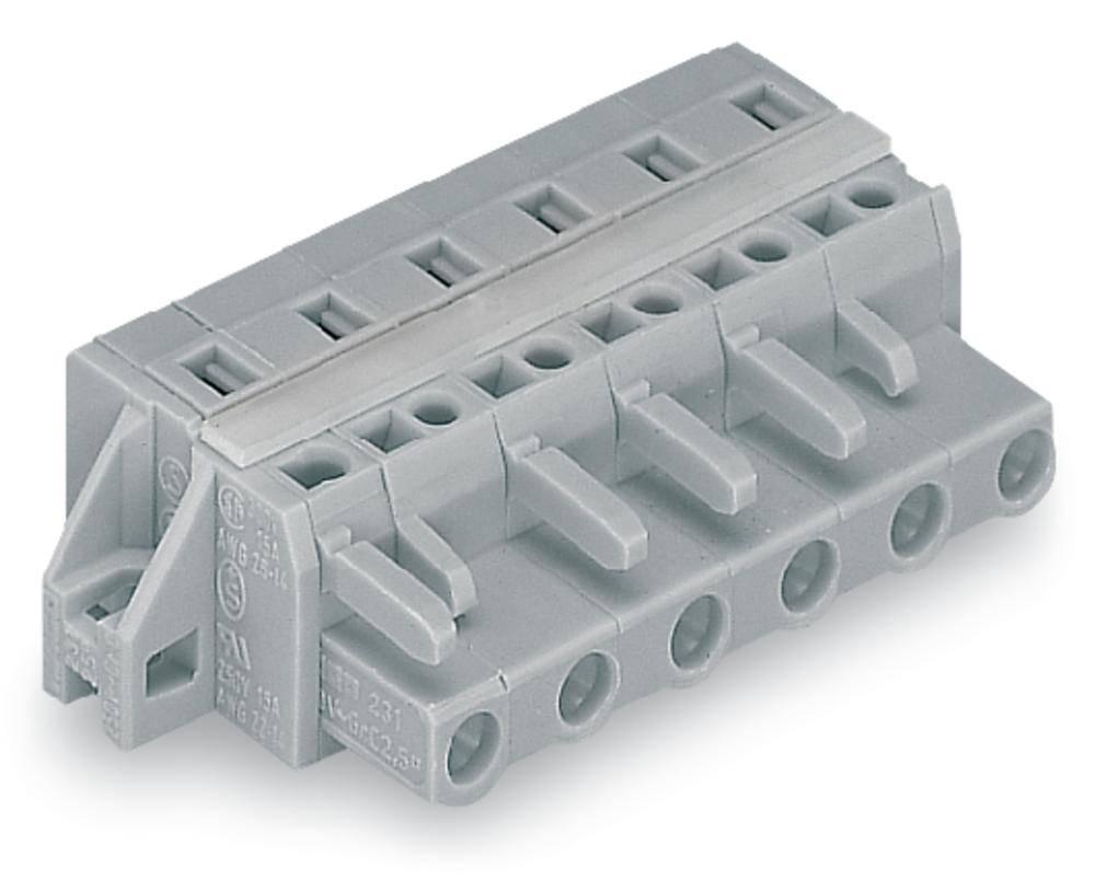 Tilslutningskabinet-kabel 231 Samlet antal poler 8 WAGO 231-208/027-000 Rastermål: 7.50 mm 25 stk
