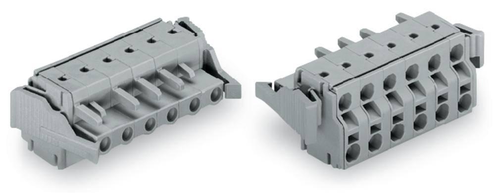 Tilslutningskabinet-kabel 231 Samlet antal poler 8 WAGO 231-2208/037-000 Rastermål: 7.50 mm 25 stk