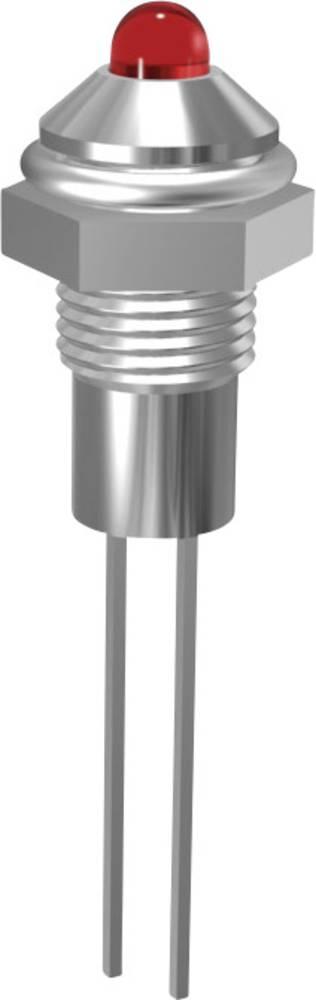 3 mm LED-krom signallampe Signal Construct SMQS 062 Grøn Gennemgangsspænding U(F) 2.1 A