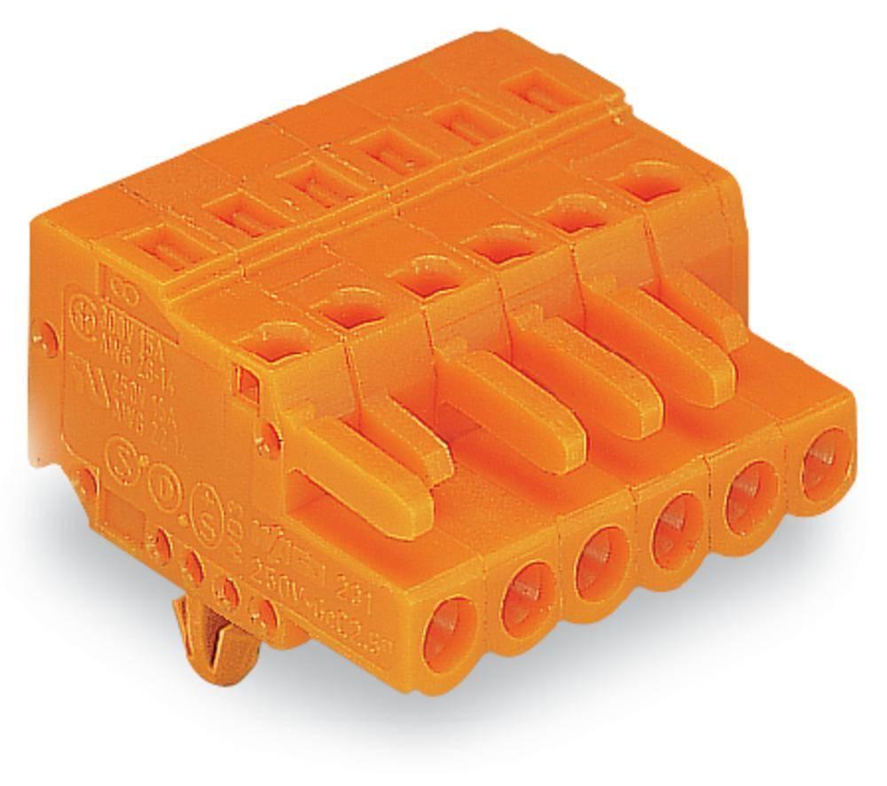 Ohišje vtičnice - kabel 231 WAGO 231-320/008-000 mere: 5.08 mm 10 kosov