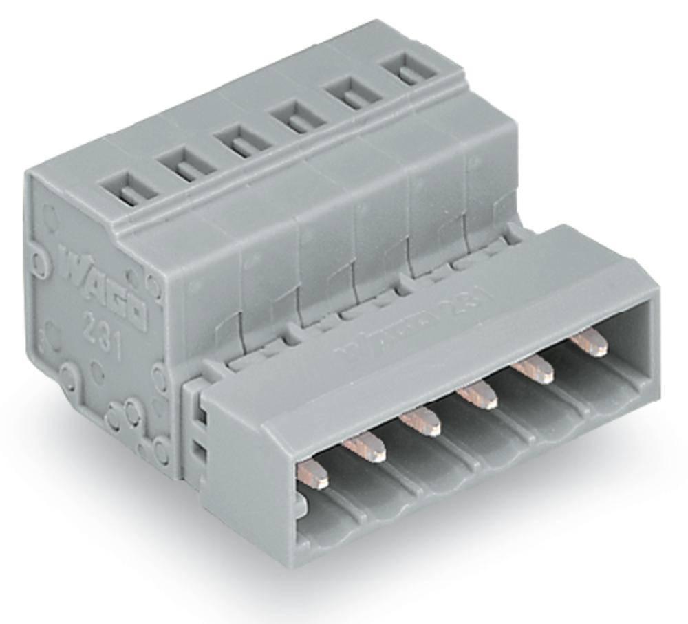 Pinski konektor (Standard) 300 št. polov skupaj 7 WAGO 231-607 mere: 5 mm 50 kosov