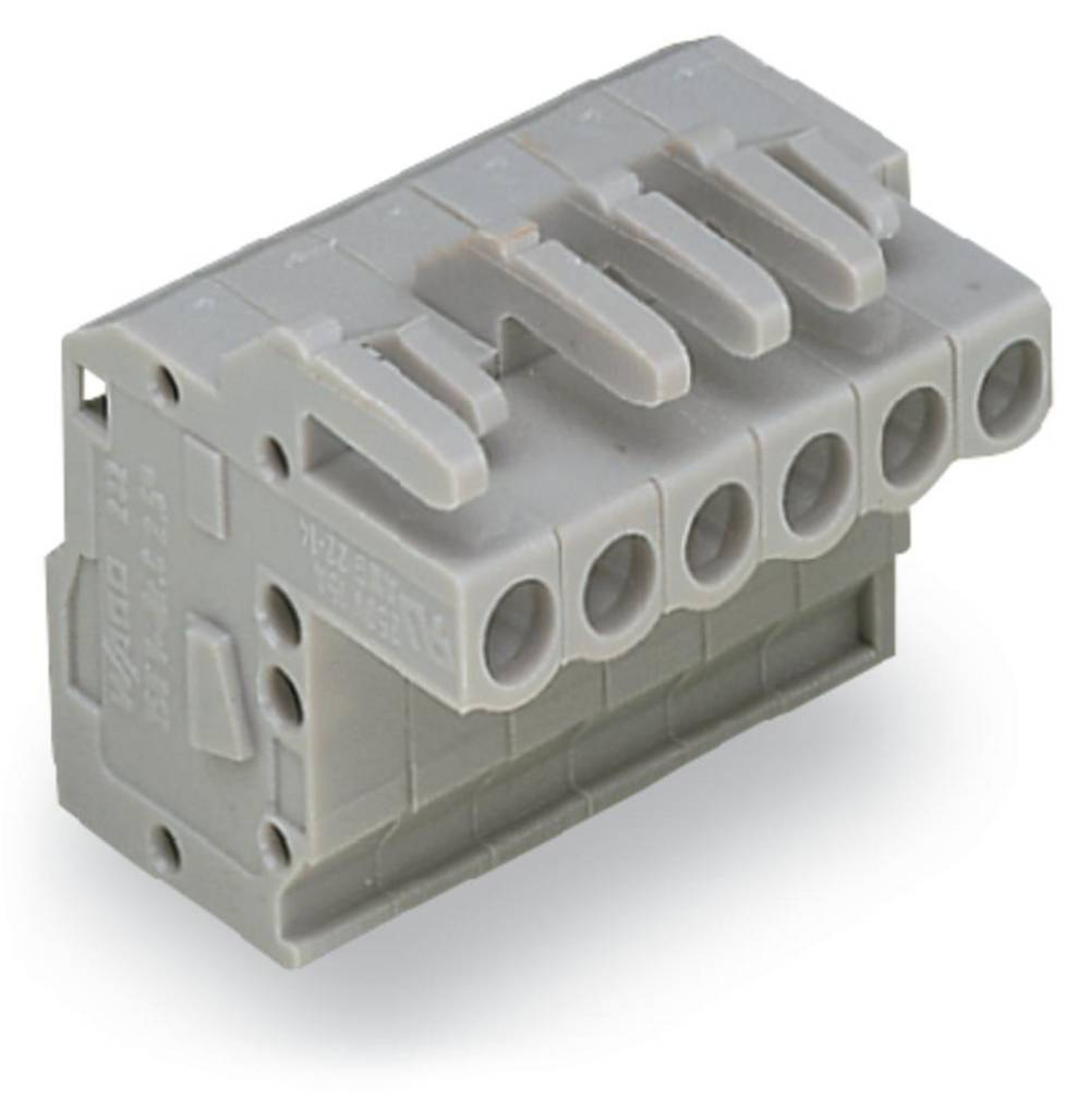 Tilslutningskabinet-kabel 232 Samlet antal poler 5 WAGO 232-105/026-000 Rastermål: 5 mm 100 stk