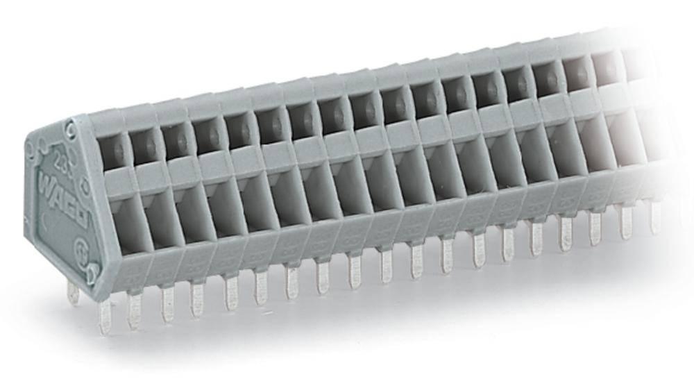 Fjederkraftsklemmeblok WAGO 0.50 mm² Poltal 24 Grå 80 stk