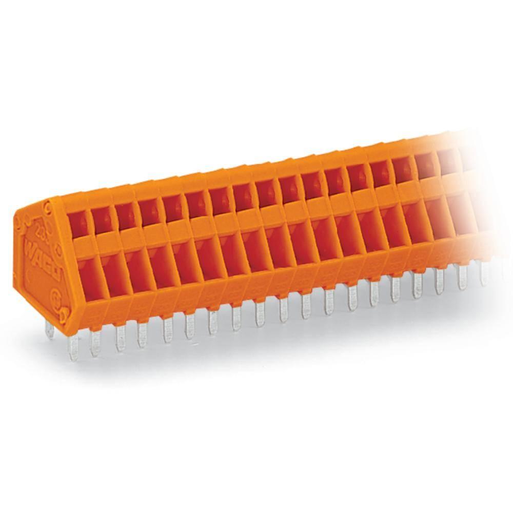 Fjederkraftsklemmeblok WAGO 0.50 mm² Poltal 7 Orange 240 stk