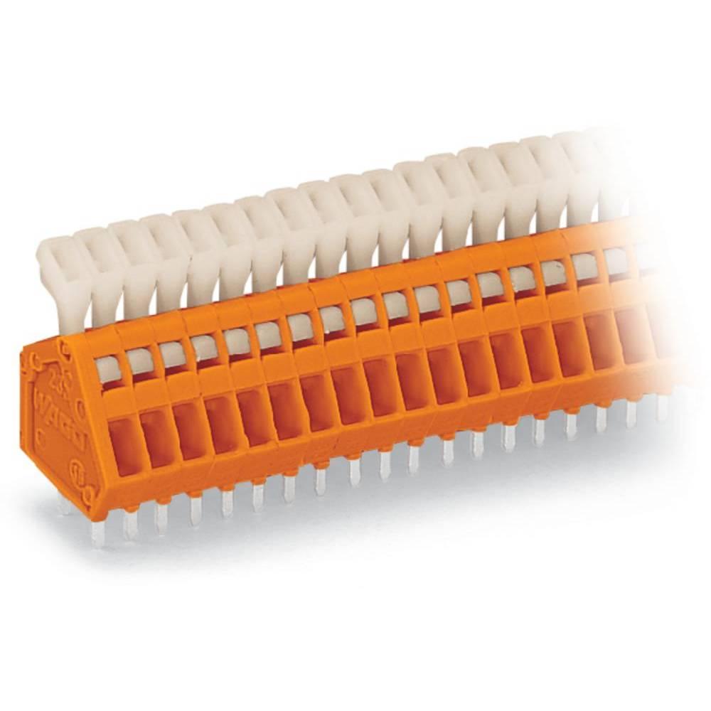 Fjederkraftsklemmeblok WAGO 0.50 mm² Poltal 6 Orange 280 stk