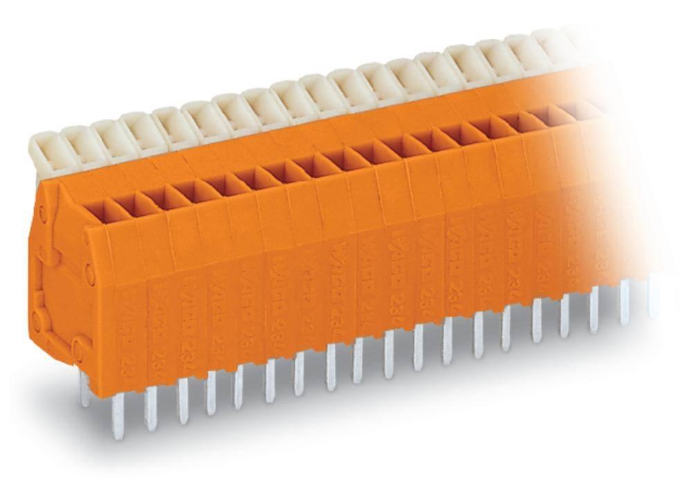 Fjederkraftsklemmeblok WAGO 0.50 mm² Poltal 36 Orange 40 stk