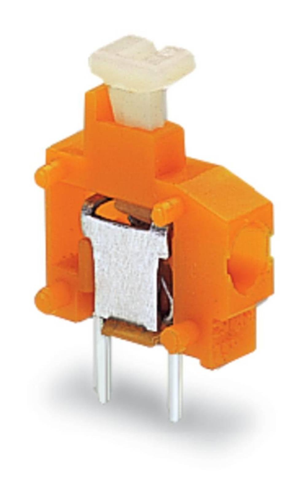 Fjederkraftsklemmeblok WAGO 1.50 mm² Poltal 1 Gul 800 stk
