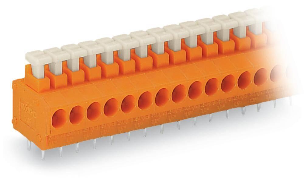 Fjederkraftsklemmeblok WAGO 1.50 mm² Poltal 5 Orange 220 stk
