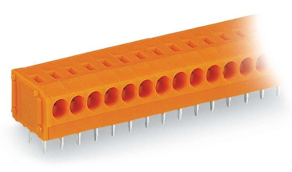 Fjederkraftsklemmeblok WAGO 0.75 mm² Poltal 3 Orange 360 stk