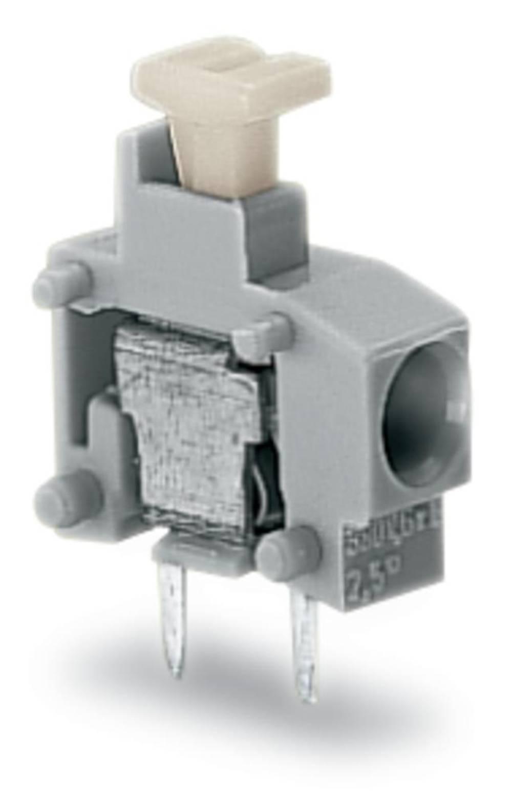 Fjederkraftsklemmeblok WAGO 0.75 mm² Poltal 1 Violet 800 stk