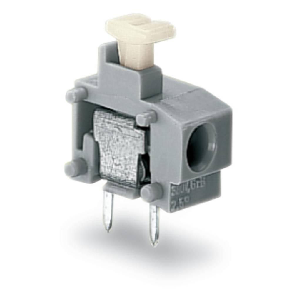 Fjederkraftsklemmeblok WAGO 0.75 mm² Poltal 1 Sort 600 stk