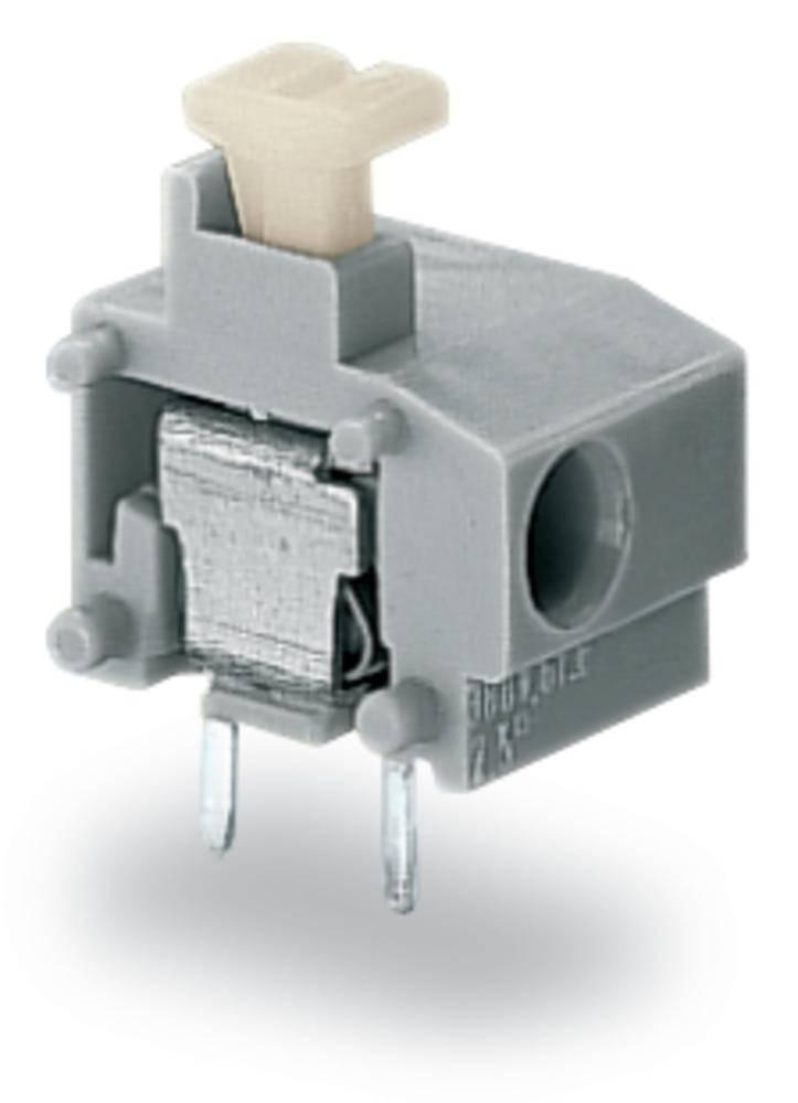 Fjederkraftsklemmeblok WAGO 0.75 mm² Poltal 1 Grå 400 stk