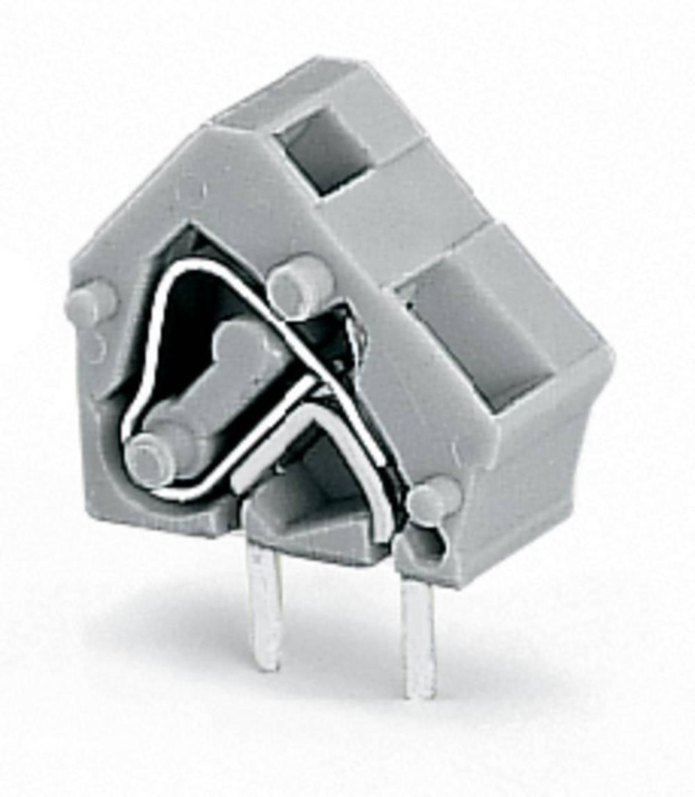 Fjederkraftsklemmeblok WAGO 2.50 mm² Poltal 1 Mørkegrå 400 stk