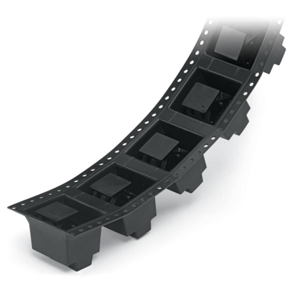 Fjederkraftsklemmeblok WAGO 2.50 mm² Poltal 2 Sort 140 stk