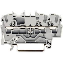 Gennemgangsklemme 5.20 mm Trækfjeder Belægning: L Grå WAGO 2002-1301 1 stk