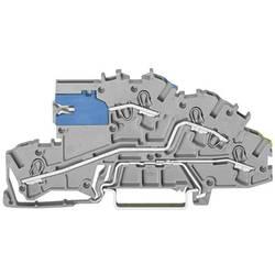installations-etageklemme 5.20 mm Trækfjeder Belægning: NT, L, Terre Grå WAGO 2003-7641 1 stk
