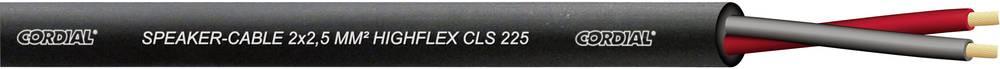 Kabel za zvučnike CLS 225 Cordial 2,5 mm, dvožilni, flleksibilan 2 x 2.5 mm siva, roba na metre