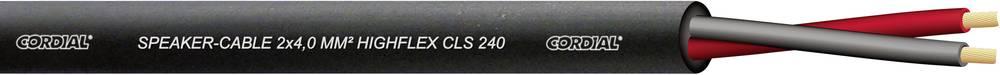 Kabel za zvočnik Cordial serije CLS, , dvožilen, fleksibilen, 2 x 4 mm2, črn, metrsko blag CLS 240 Black 100