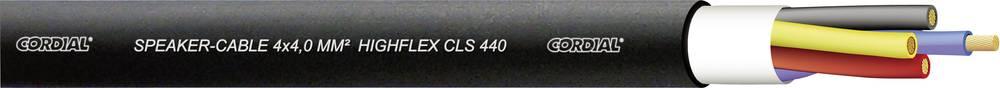 Dvojni aksialni kabel za zvočnike, Multicore, highflex, CLS440 4 x 4 mm2, črn, Cordial CLS 440 Black 100