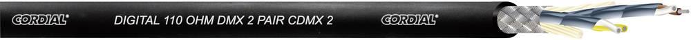 Krmilni kabel 4 x 0.22 mm crne boje Cordial CDMX 2 BLACK 100 metarski
