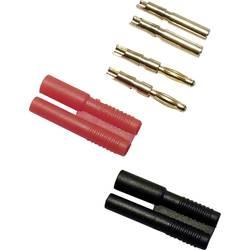 Laboratoriestik sortiment Stik, lige, Tilslutning, lige Schnepp 2 mm Rød, Sort 4 Parts