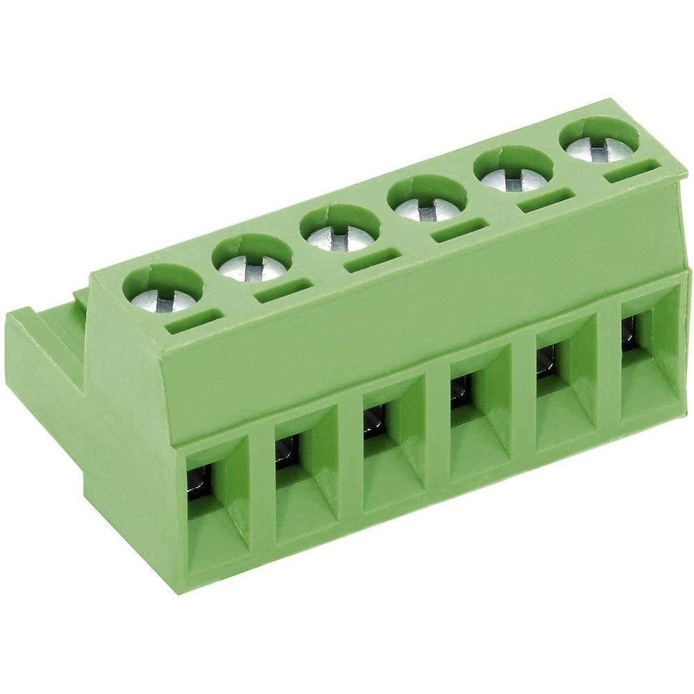 Tilslutningskabinet-kabel AK(Z)950 Samlet antal poler 6 PTR 50950060001E Rastermål: 5 mm 1 stk