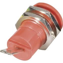 Sikkerheds-laboratorietilslutning Tilslutning, indbygning lodret Schnepp BU 4600 rt 4 mm Rød 1 stk