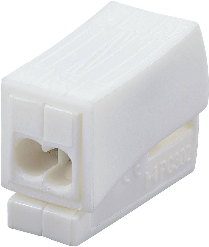Lysklemme ATT.CALC.CROSS_SECTION_FLEXIBLE: 0.5-2.5 mm² ATT.CALC.CROSS_SECTION_RIGID: 0.5-2.5 mm² Poltal: 3 731693 1 stk Hvid