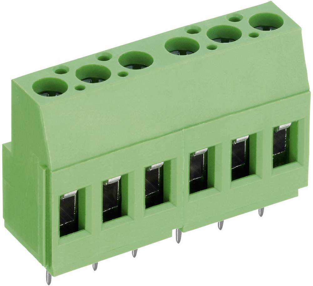 Skrueklemmeblok PTR AKZ700/12-5.08-V 2.50 mm² Poltal 12 Grøn 1 stk