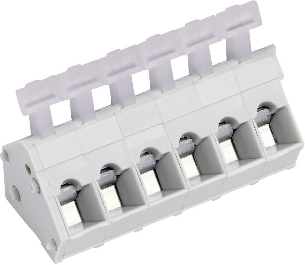 Fjederkraftsklemmeblok PTR AK3001/3KD-5.0 2.50 mm² Poltal 3 Kiselgrå 1 stk