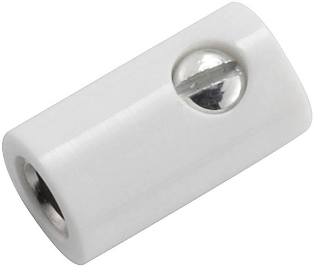 Miniaturelaboratorie-tilslutning Tilslutning, lige 2.6 mm Hvid 1 stk