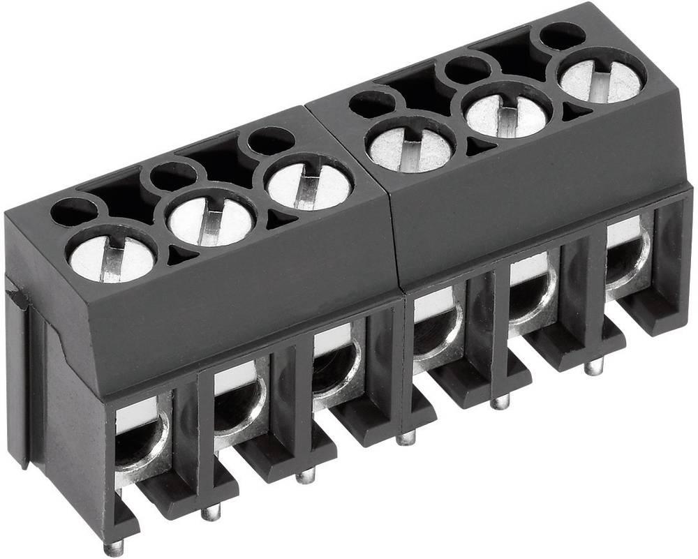 Skrueklemmeblok PTR AK100/2DS-5.0-V 2.50 mm² Poltal 2 Grå 1 stk
