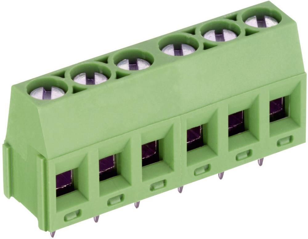 Skrueklemmeblok PTR AKZ350/3-5,08-V 1.50 mm² Poltal 3 Grøn 1 stk