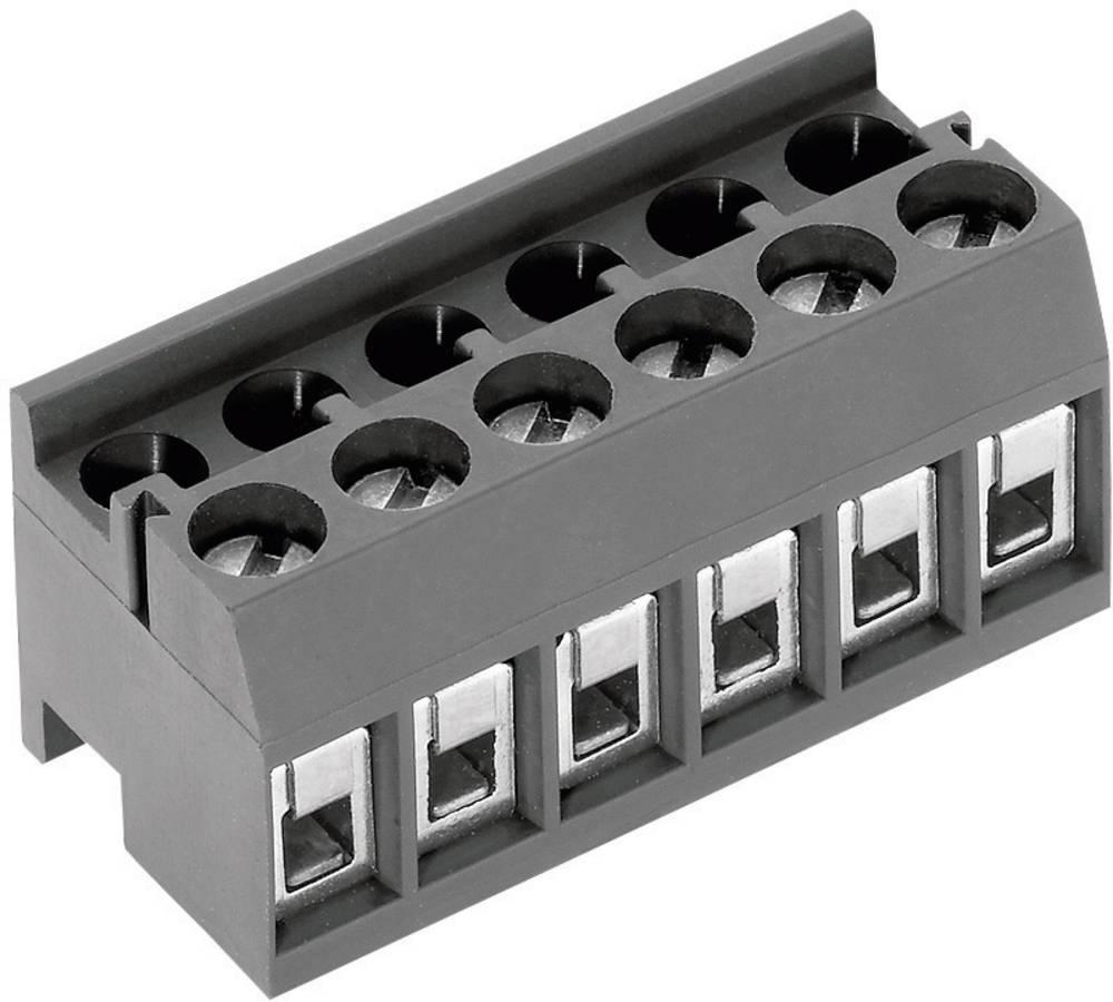 Skrueklemmeblok PTR AK1350/6DS-3.5 1.50 mm² Poltal 6 Grå 1 stk