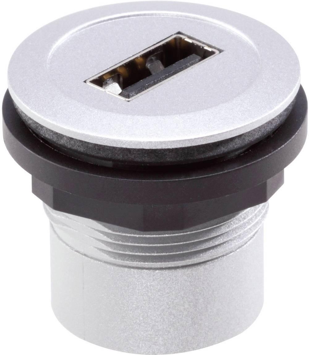 foran USB-tilslutning type A · bag USB-tilslutning type A Schlegel RRJ_USB_AA USB 2.0 Metal 1 stk