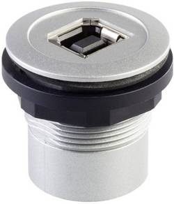 foran USB-tilslutning type B · bag USB-tilslutning type A Schlegel RRJ_USB_BA USB 2.0 Metal 1 stk